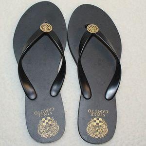 Black Flip Flop Sandals by Vince Camuto